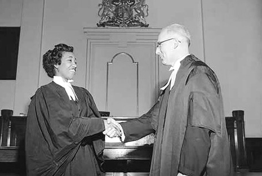 Violet King, Canada's first black female lawyer is shown in this June 1954 photo courtesy the Glenbow Archives, NA-5600-7760a