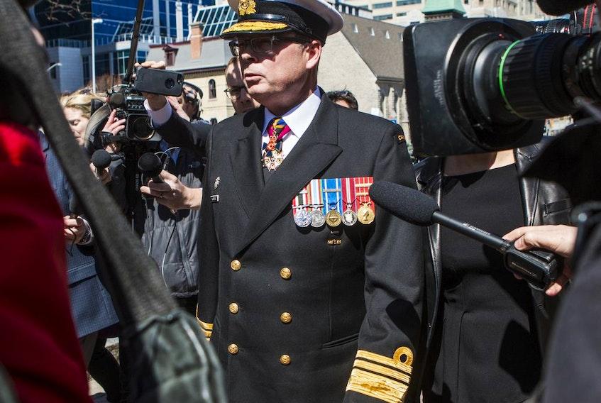 Vice-Admiral Mark Norman leaves court in Ottawa on Wednesday, May 8, 2019. Errol McGihon/Postmedia