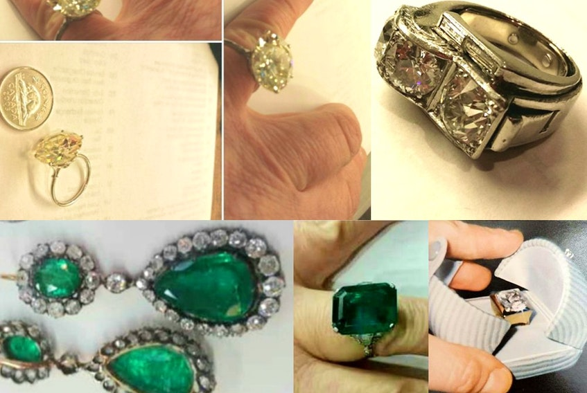 Jewelry stolen from an Outremont home in February 2020.