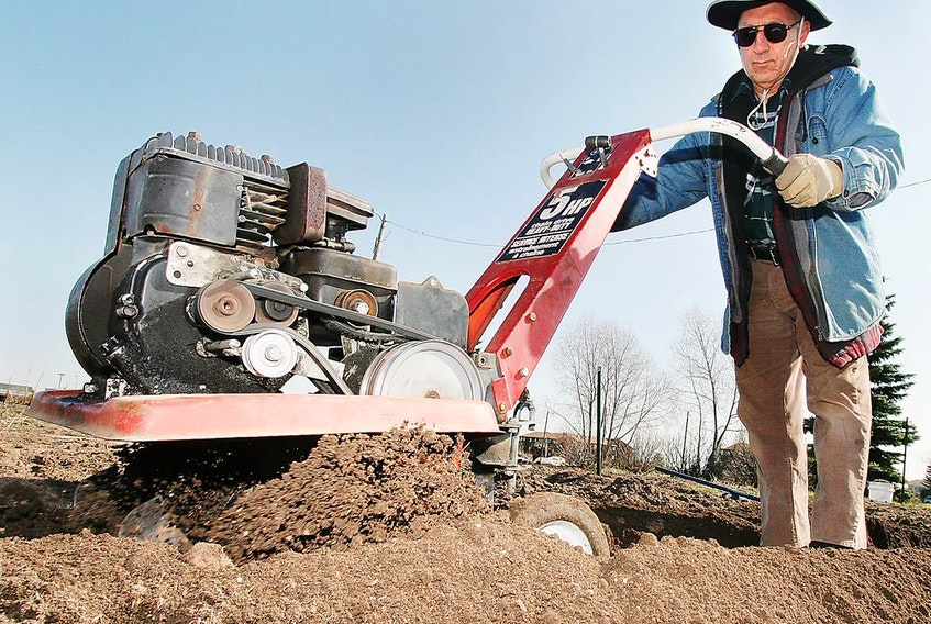A rototiller is the easiest way to turn compost and mulch deep into your soil to revive it.