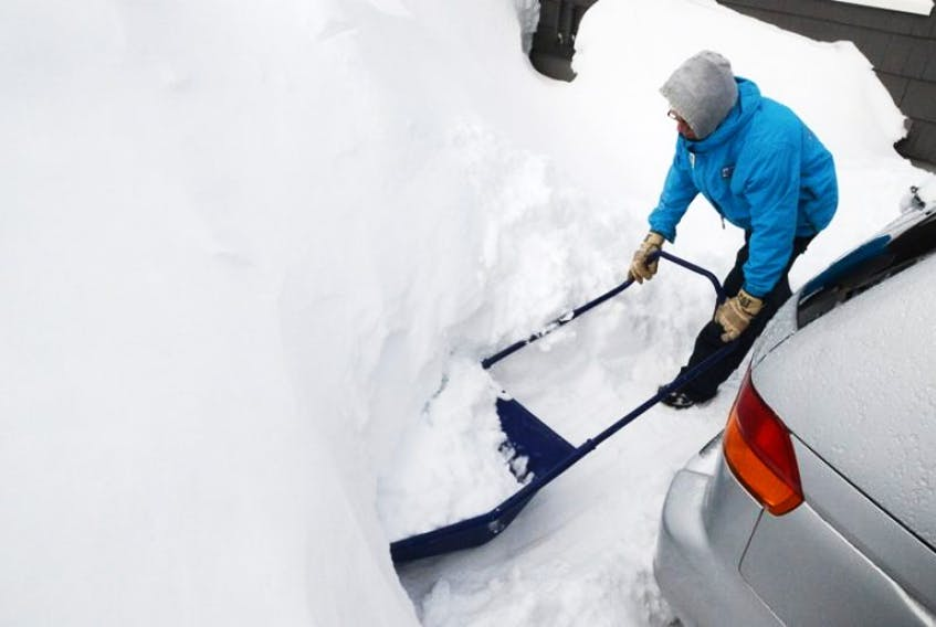 Islanders like Terry Connor of Charlottetown have been doing a lot of this over the past few months. Charlottetown is still 6.2 centimetres of snow away from tying the all-time snowiest winter on record for the city area.