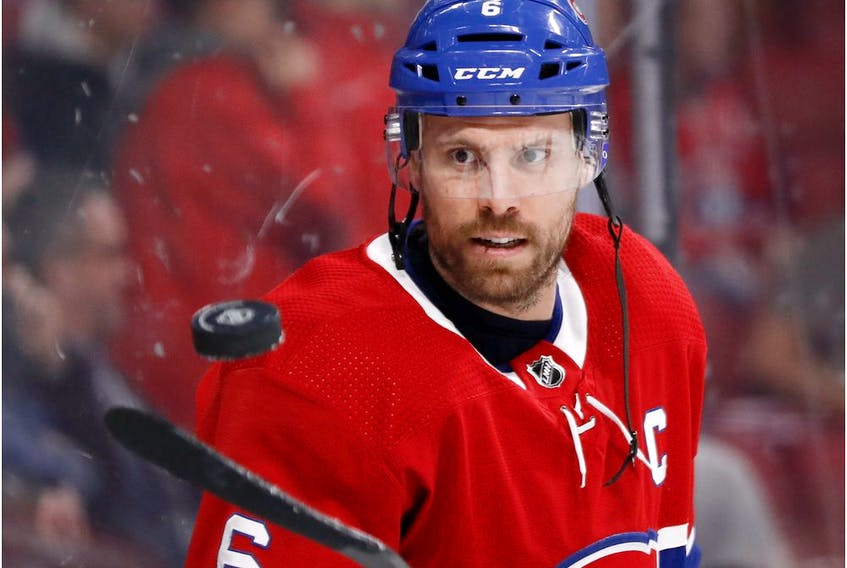 """""""I got three kids so, needless to say, I've been pretty busy,"""" Montreal Canadiens defenceman Shea Weber says of how he has been spending his free time since the NHL season was paused because of the coronavirus outbreak."""