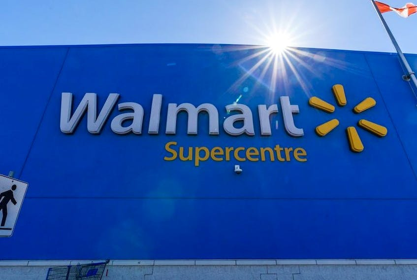 Pictured is the Walmart Supercentre in Deerfoot City Mall on Friday, May 29, 2020.