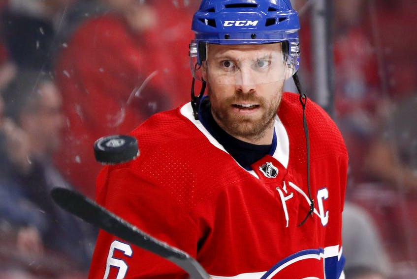 """Shea Weber is the Canadiens' nominee for the Bill Masterton Memorial Trophy, which is presented annually to the NHL player """"who best exemplifies the qualities of perseverance, sportsmanship, and dedication to hockey."""""""