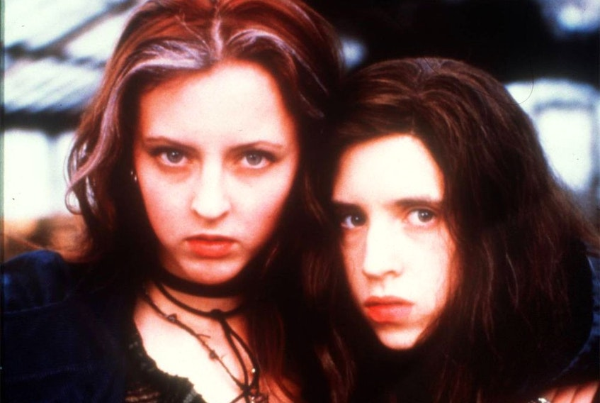 L-R: Katherine Isabelle and Emily Perkins star in 'Ginger Snaps.'  Movie