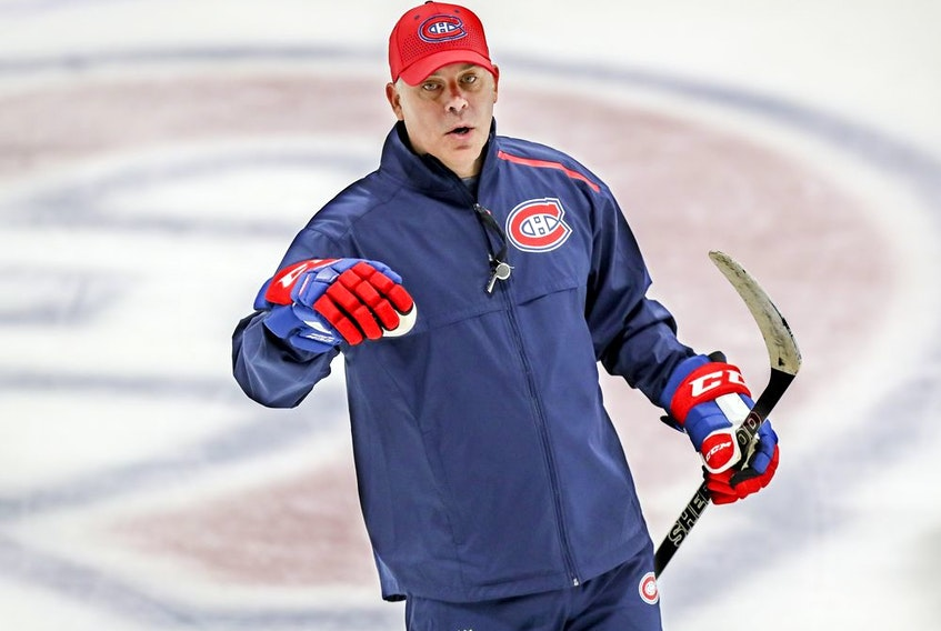 New Canadiens head coach Dominique Ducharme wouldn't say after practice Monday who will be in goal Tuesday night at the Bell Centre against the Ottawa Senators.