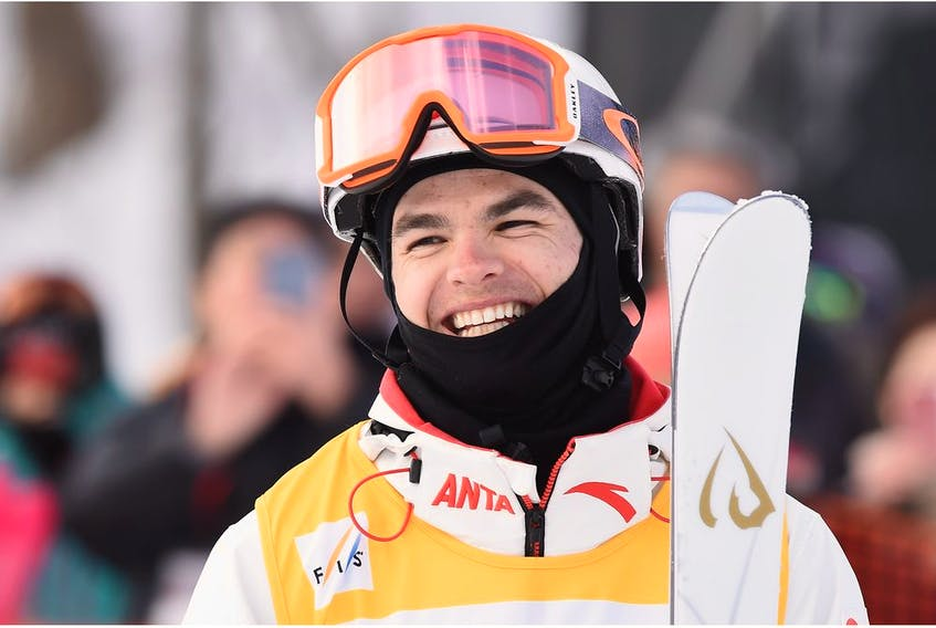 SENBOKU, JAPAN - FEBRUARY 24: Mikael Kingsbury of Canada celebrates during day two of the Men's FSI Freestyle Skiing World Cup Tazawako on February 24, 2019 in Senboku, Akita, Japan.
