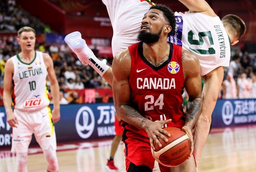 Khem Birch of Canada in action during the 2019 FIBA World Cup, first round match between Lithuania and Canada at Dongguan Basketball Center on September 03, 2019 in Dongguan, China.