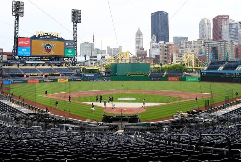 A general view of the field during summer workouts at PNC Park on July 7, 2020 in Pittsburgh, Pennsylvania.
