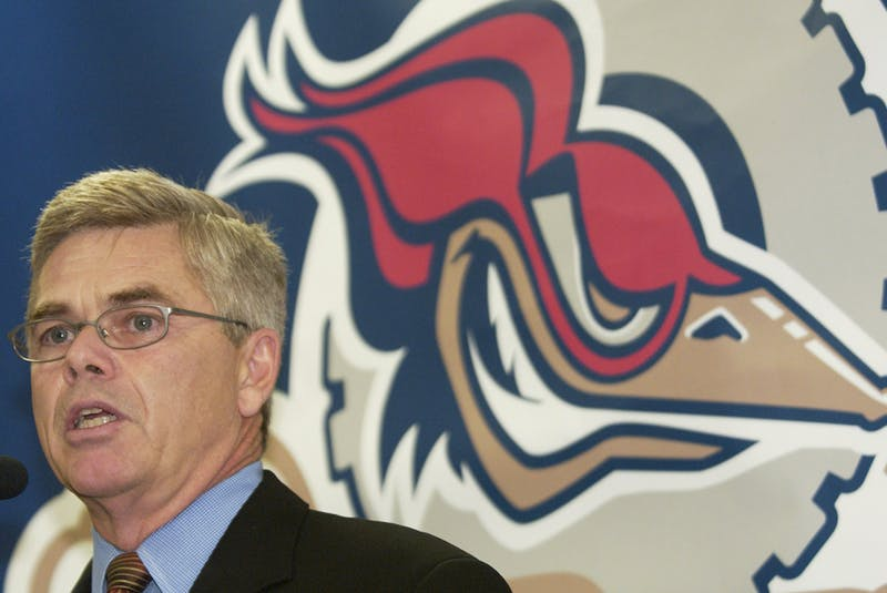 AHL president Dave Andrews gives a news conference at Rexall Place in Edmonton in this file photo from Oct. 14, 2004. - Postmedia