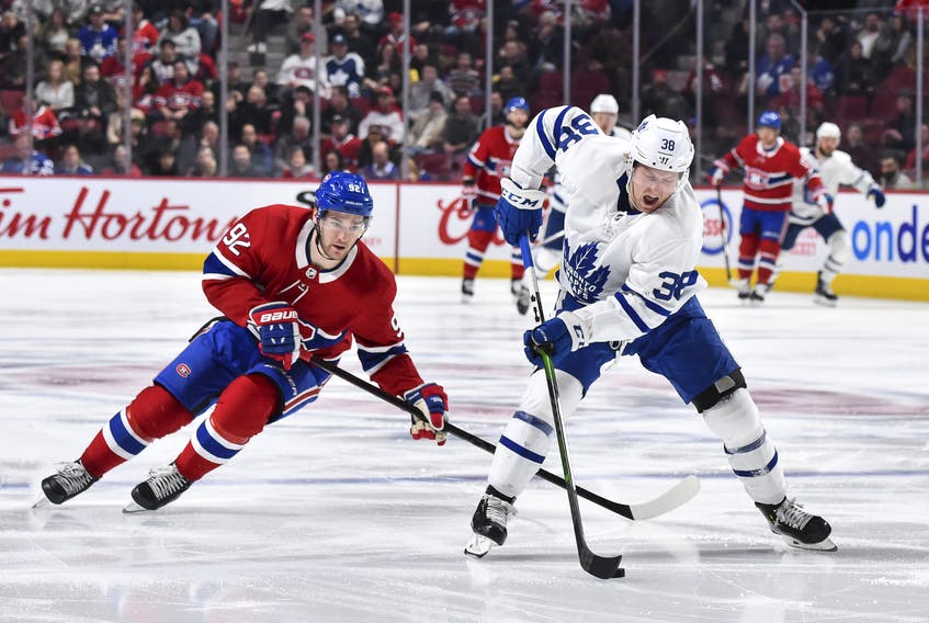 The Toronto Maple Leafs will be looking towards Rasmus Sandin a lot on the blueline. (GETTY IMAGES)