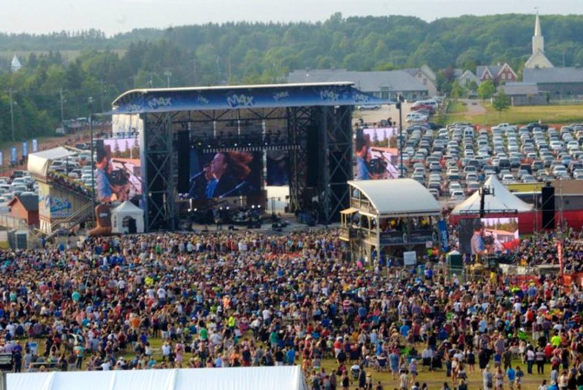 Thousands of people gathered for the 2015 Cavendish Beach Music Festival.