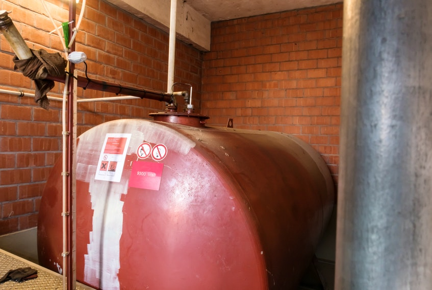 An indoor oil tank. 123RF