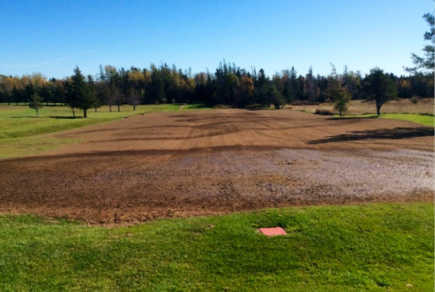 While the playing season for the most part has concluded, two projects have been ongoing as the Sackville Gold and Country Club works to present a more enjoyable course in 2018. The third hole has had a long-standing drainage problem. New drainage has been installed, the hole was then levelled, seed added. The power cart trail leading from the seventh tee to the seventh green has been upgraded. The projects received funding assistance from both ACOA and the Town of Sackville. PHOTO SUBMITTED