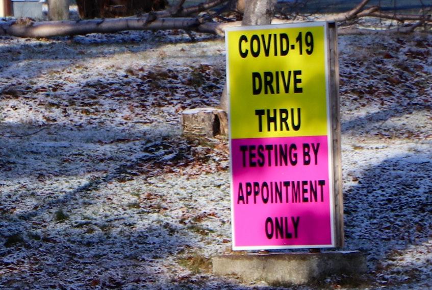 A COVID-19 testing site. SaltWire Network file photo