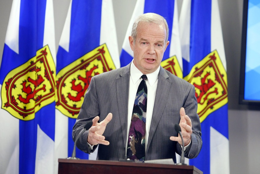 Nova Scotia Attorney General and Justice Minister Mark Furey answers questions from the media on the government's new legislation on the sale of cannabis. The Cannabis Control Act, as well as other legislative amendments to implement cannabis legalization in Nova Scotia were tabled by the minister in the house Tuesday afternoon.