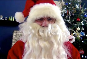 Santa Claus responded to The Telegram's 20 questions over a Zoom call. — Contributed photo/Mrs. Claus