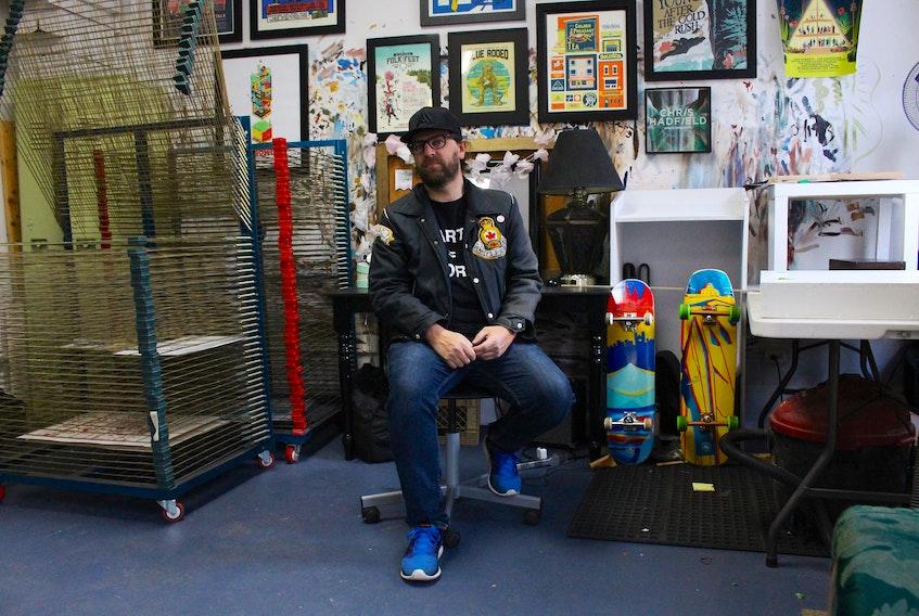 Graphic designer and illustrator, Jud Haynes, in his studio in downtown St. John's. — Andrew Waterman/The Telegram