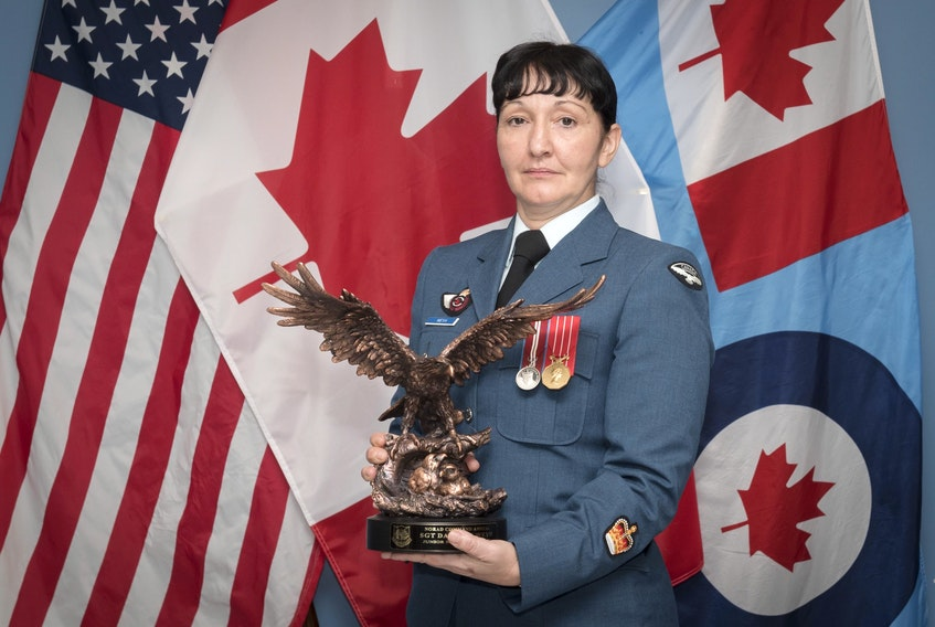 Warrant Officer Danette Weyh is a Mission Crew Commander Technician posted to 21 Aerospace Control & Warning Squadron at 22 Wing North Bay. She is the recent recipient of the NORAD award. — Submitted