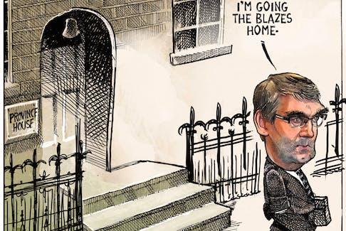 Michael de Adder's editorial cartoon for Aug. 7, 2020.