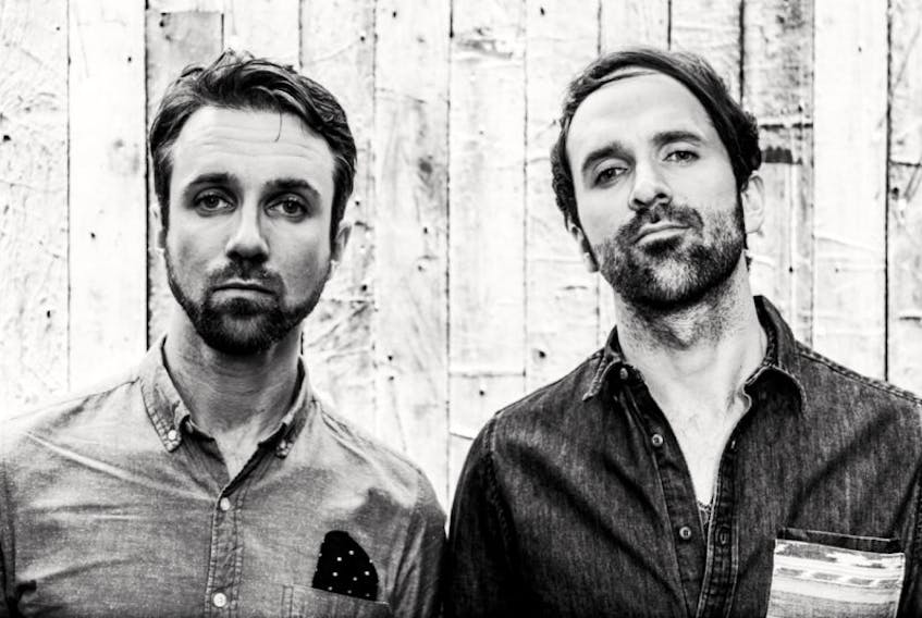 The Trews' Colin MacDonald, left, and his brother John-Angus will be performing in Cornwall in November at the annual fundraiser dinner held in memory of Capt. Nichola Goddard, Canada's first female combat soldier to die in battle in Afghanistan in 2006.