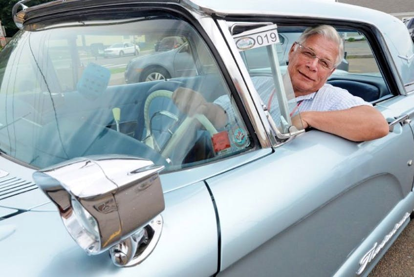 Blair Chisholm, vice-president of the New Brunswick Auto Club, was driving his 1960 Thunderbird around Charlottetown Monday. The club is touring Prince Edward Island this week with cars from Ontario, Nova Scotia, N.B., P.E.I. and Newfoundland and Labrador.