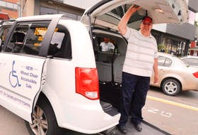 Yellow Cab taxi driver Marcel Archambault is operating Charlottetown's first wheelchair-accessible vehicle. The service is currently being offered 12 hours a day but will soon be on the road around the clock.