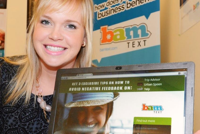 Megan Murnaghan, business development officer for BamText, was hired thanks to funding through the provincial government's Ignition Program.