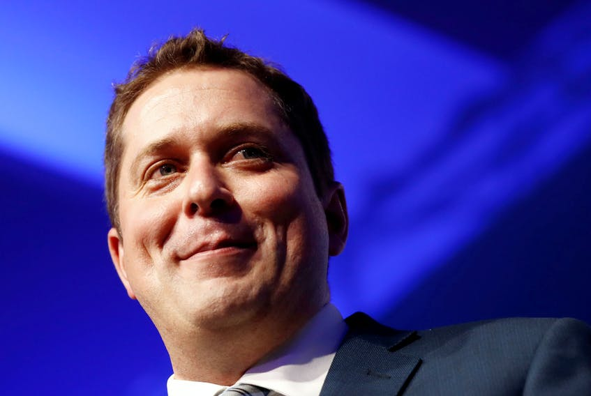 Andrew Scheer speaks after winning the leadership at the Conservative Party of Canada leadership convention in Toronto, Ontario, Canada, May 27, 2017. - Mark Blinch/Reuters