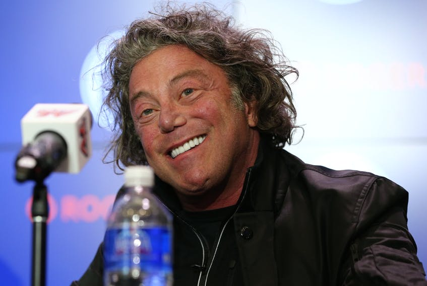 Daryl Katz, owner of the Edmonton Oilers, speaks to media in this file photo from May 7, 2019.
