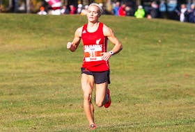 Jade Roberts was named the 2019 AUS female cross-country athlete of the year after winning in Fredericton, N.B., on Saturday, and has also been named the AUS athlete of the week. — UNB Athletics/James West