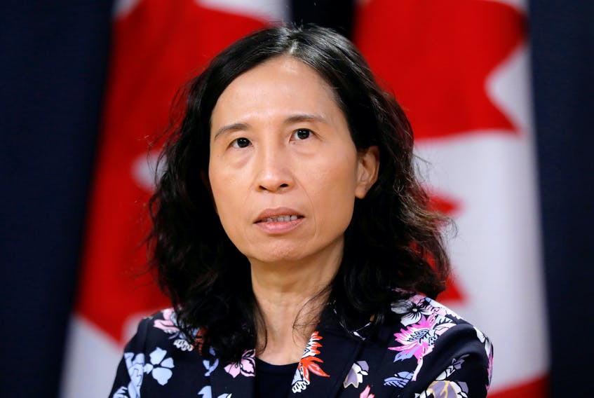 Canada's chief public health officer Dr. Theresa Tam provides a novel coronavirus update during a news conference in Ottawa on Feb. 3, 2020.