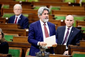 Canada's government House leader Pablo Rodriguez speaks as MPs convene to give the government power to inject billions of dollars in emergency cash to help individuals and businesses through the economic crunch caused by the outbreak of COVID-19, in the House of Commons on Parliament Hill in Ottawa on Tuesday, March 24, 2020.