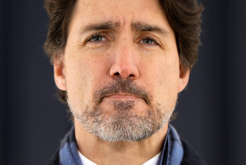 Prime Minister Justin Trudeau addressed Sunday's mass shootings in Nova Scotia and provided his daily update on the fight against COVID-19 in a news conference at Rideau Cottage in Ottawa on Monday, April 20, 2020.