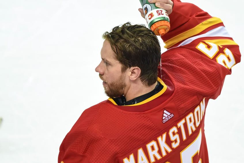 Calgary Flames goalie Jacob Markstrom knew just the guy to feature on his new mask.