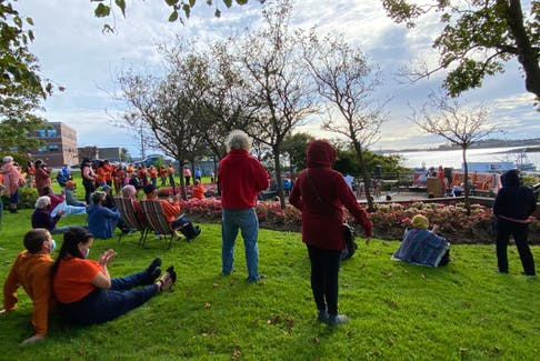 The Truth and Reconciliation Day ceremonies on Sept. 30, at Frost Park, drew a large crowd. CARLA ALLEN • TRI-COUNTY VANGUARD