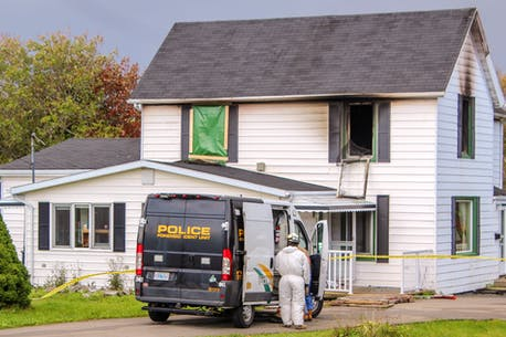 A fire at this Glace Bay multi-unit residence claimed the lives of two teenaged girls early Friday morning. The blaze also sent one of the girls' mother to the burn unit at the Halifax Infirmary.