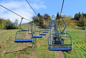 Ski Wentworth operated its lift for hikers to hitch a ride to the top of the mountain and enjoy the fall colours.