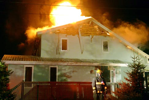 A fire destroyed a house in Torbay early Monday morning.