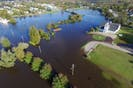 An aerial view of Sydney's south end on Thanksgiving Day 2016, when a record rainfall caused major flooding in the neighbourhood. — MARK VOUTIER/ISLAND AERIAL MEDIA