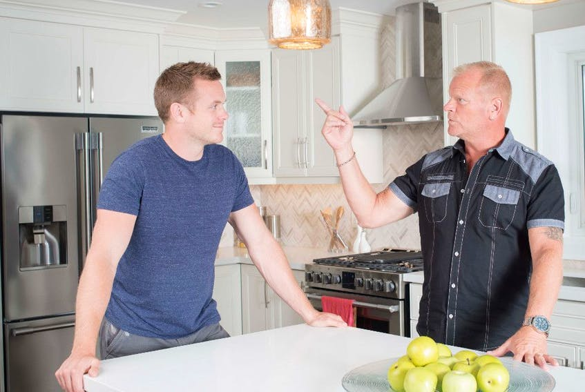 Kitchen accessories can help make prepping for family gatherings easier and more convenient. Mike and Mike Holmes Jr. at the country house, Holmes & Holmes Season 2.
