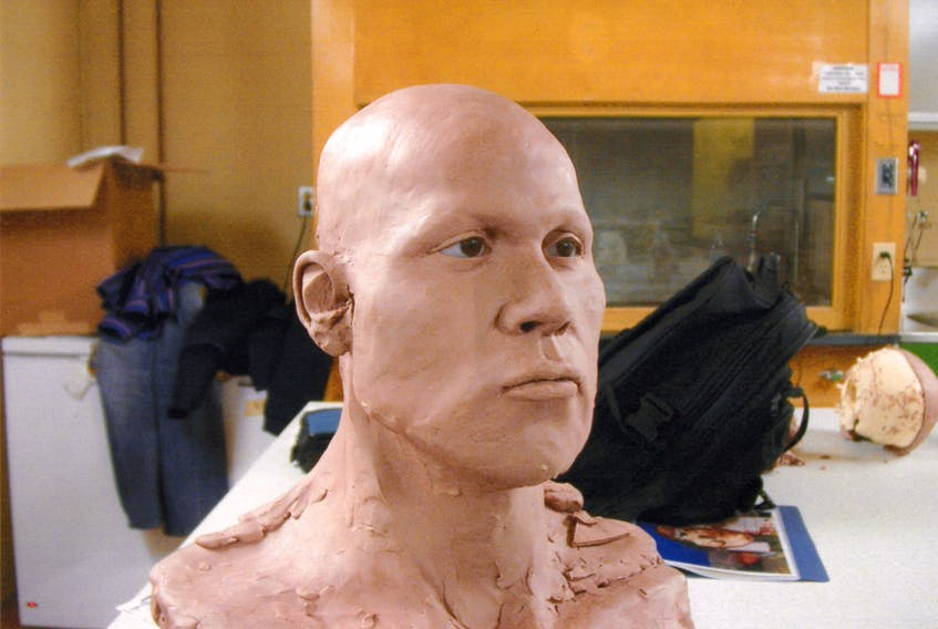 This facial approximation of what the murder victim might have looked like was made using evidence found near Mineral Road in Conception Bay South, where a human skull and some other bones were found in May 2001.