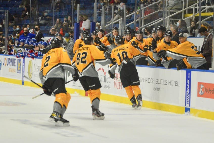The Cape Breton Eagles are hoping for more goal celebrations when they host a Quebec-based team for the first time since March 2020. The Eagles take on the Shawinigan Cataractes in Quebec Major Junior Hockey League action today at 7 p.m. DAVID JALA • CAPE BRETON POST