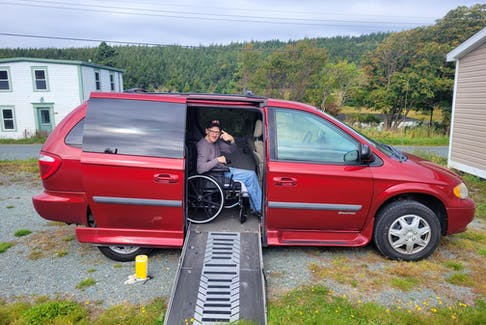 Gordon Ledrew is all smiles these days after his family was able to raise the necessary funds to purchase a wheelchair-accessible van to help with his mobility and day-to-day life.