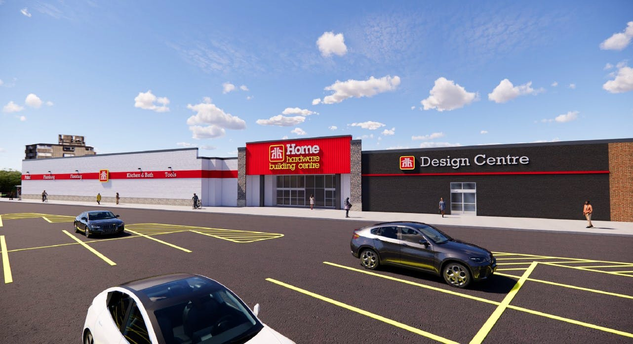A rendering of the Home Hardware being built at the former Sears end of the Truro Mall. Owner Arnold Hagen, who bought the mall with Doug Doucet, is aiming to open the store in May of next year.