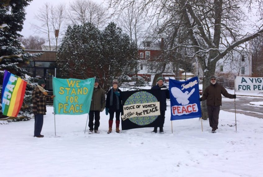 The Wolfville Peace Vigil will mark its 20th anniversary on Oct. 16.