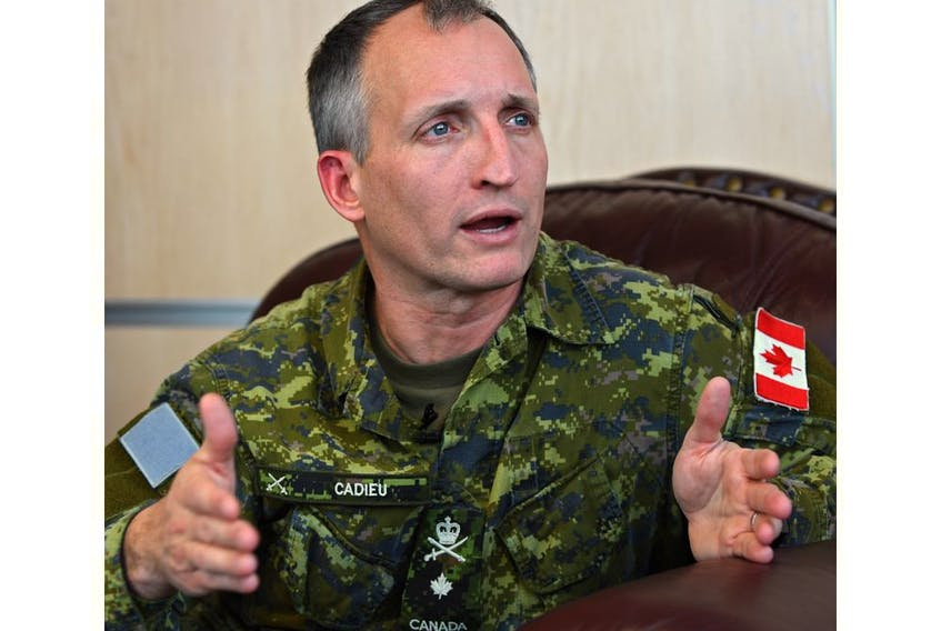 Lt.-Gen. Trevor Cadieu, pictured in 2017, is under police investigation, Postmedia has confirmed.