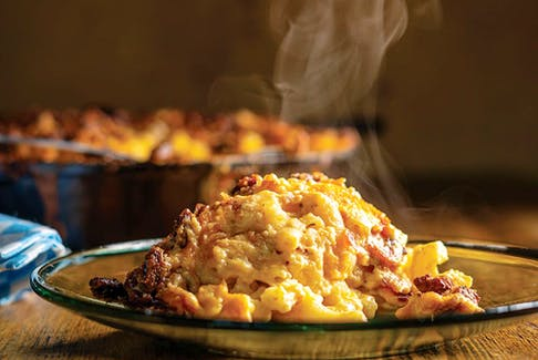 Bacon-praline macaroni and cheese from The Twisted Soul Cookbook.