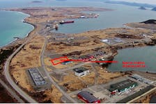 Dan Meade, owner of Dandy Dan's Seafood, plans to build a snow crab processing plant at this location in the Port of Argentia industrial park.