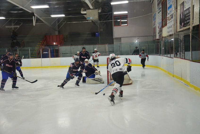 The Eastern Maniacs take on the Kensington Moase Plumbing and Heating Vipers in an Island Junior Hockey League game in Kensington in February 2021. The Maniacs have announced the team will not operate for the 2021-22 season.